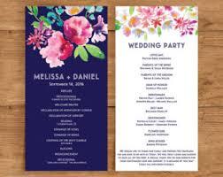 Sample Wedding Program Jazz Hands Paper Co