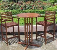 Bar Height Patio Furniture by Bar Height Bistro Set Ebay