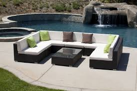 Outdoor Sectional Sofa Furniture Outdoor Sectional White Sofa U Shaped Set With Rattan