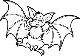 bat coloring pages halloween free printable cartoon page for kids