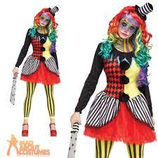 Halloween Clowns Costumes Freakshow Clown Costume Carnival Halloween Horror Ladies