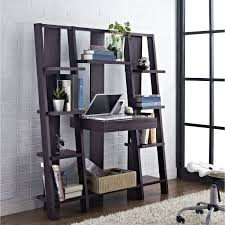 Leaning Ladder Desk by Home Design Black Wooden Leaning Ladder Desks On Dark Brown