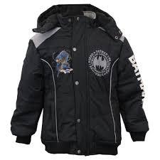 boys batman jackets kids coat hooded padded fleece lined fashion