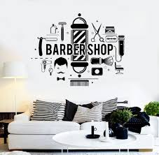 vinyl wall decal barbershop hair salon stylist barber stickers