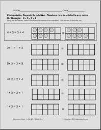 commutative property addition packet math abcteach