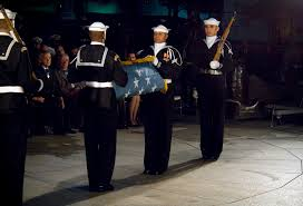 Honor Flag File Members Of The Navy Ceremonial Guard Folding The Medal Of
