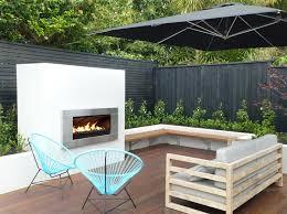 outdoor courtyard outdoor patio gas fireplace