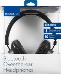 insignia home theater insignia ns cahbtoe01 wireless over the ear headphones black ns