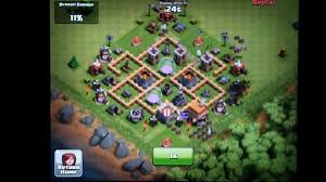 coc village layout level 5 clash of clans town hall level 5 farming defense layout youtube
