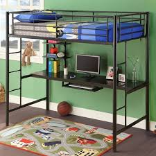 Full Size Metal Loft Bed With Desk by Full Size Metal Loft Bed With Desk Bed U0026 Headboards