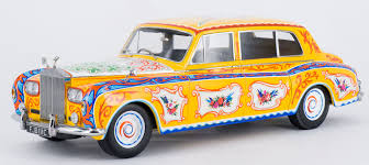 roll royce yellow paragon releases 1 18 john lennon u0027s psychedelic rolls royce u2013 xdiecast
