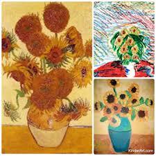 van gogh u0027s sunflowers u2013 kinderart