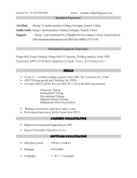 Inspector Resume Sample by Api 570 Piping Inspector Resume