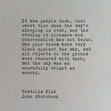 John Steinbeck Tortilla Flat Typewriter Quote by WhiteCellarDoor
