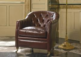 Leather Chesterfield Armchair Chesterfield Armchair Fabric Leather On Casters Wembley
