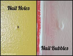 drywall repairing small holes and nail bubbles fluster buster