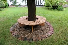 tree bench in oak
