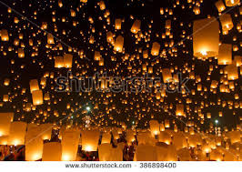 candle balloon balloon yeepeng thailand chiangmai stock photo