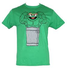 amazon com sesame street mens t shirt muscle bound oscar the