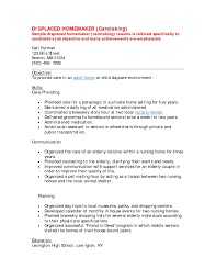 Stay At Home Mom Resume Examples by Template For Sahm Returning To Work