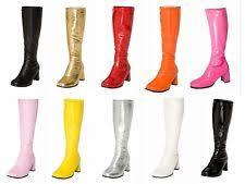 size 12 womens go go boots zip block heel knee high boots for ebay