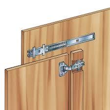 cabinet doors that slide back 18 medium duty flipper door slides one set for one door cabinet