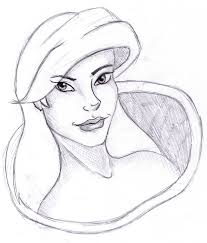 disney princess ariel sketch by snapy wapy on deviantart