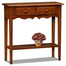 Oak Sofa Table With Drawers Petite Two Drawer Console Table Medium Oak Leick Furniture