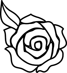 Black And White Design by Colorable Rose Line Art Free Clip Black And White Design Loversiq