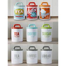 vintage kitchen canister set ceramic vintage retro kitchen canister sets ebay