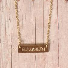 gold custom name necklace personalized name bar necklace name bar necklace customized name