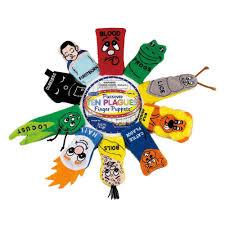 passover masks 10 plagues rite lite judaic plush passover finger puppets set of