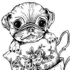 teacup pug greeting card by ink inc notonthehighstreet com