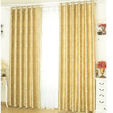 eye catching golden coffee printed and jacquard blackout curtains