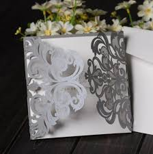 create your own wedding invitations 100x silver laser cutting free personalized customized printing