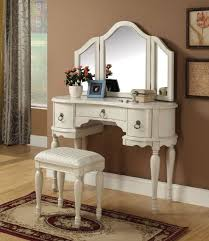makeup table target varnished wooden vanity dressing table three