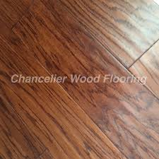 stained wire brushed oak engineered flooring