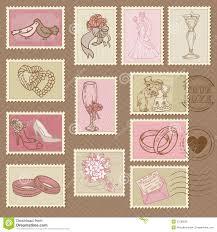 timbres poste de mariage image libre de droits image 27038526 - Timbre Poste Mariage