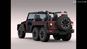 jeep wrangler models list jeep wrangler rubicon 6x6 2016 3d model from creativecrash com