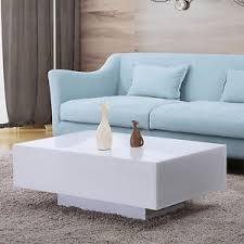 Living Room Coffee Tables And End Tables 33 Modern High Gloss White Coffee Table Side End Table Living