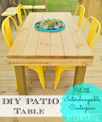 Diy Patio Furniture Craptastic Diy Patio Table With Interchangeable Centerpiece