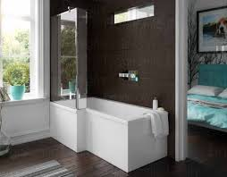 1500mm left hand square shower bath l shape glass screen and panel