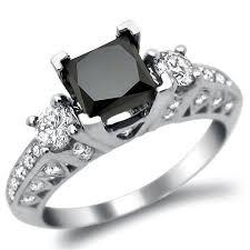 princess cut black engagement rings black princess cut 3 engagement ring here s a