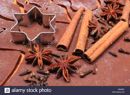 spice for baking anise cinnamon sticks and cloves cookie cutters