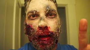 Halloween Makeup Male Frozen Zombie Test Make Up Youtube
