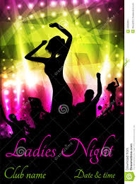 pink martini poster poster for ladies night party stock vector image 43283664
