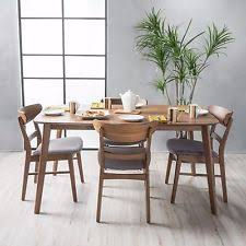 Mid Century Dining Table And Chairs Gray Dining Sets Ebay