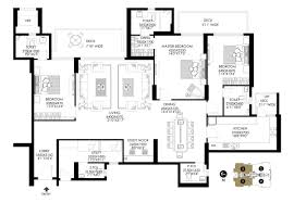 3 Bhk Apartment Floor Plan by Floor Plan Dlf Crest Gurgaon