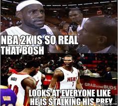 Chris Bosh Dinosaur Meme - bosh in 2k meme
