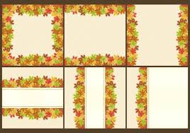 thanksgiving frames and templates free vector